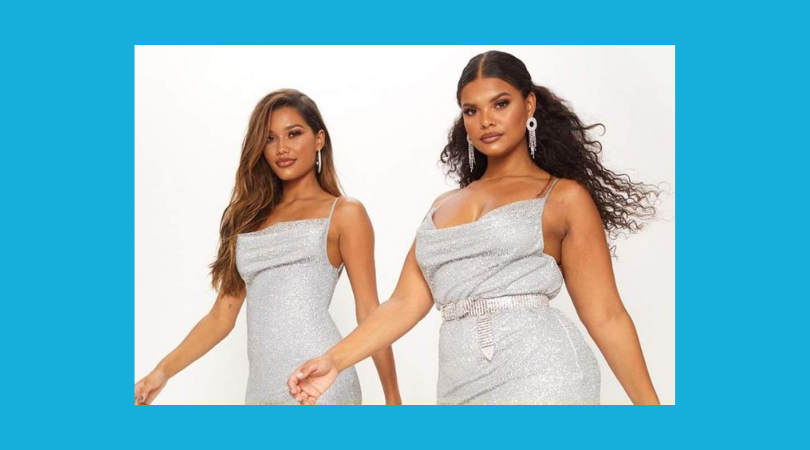 Pretty Little Thing Praised For Featuring Two Models Of Different Sizes Wearing The Same Dress